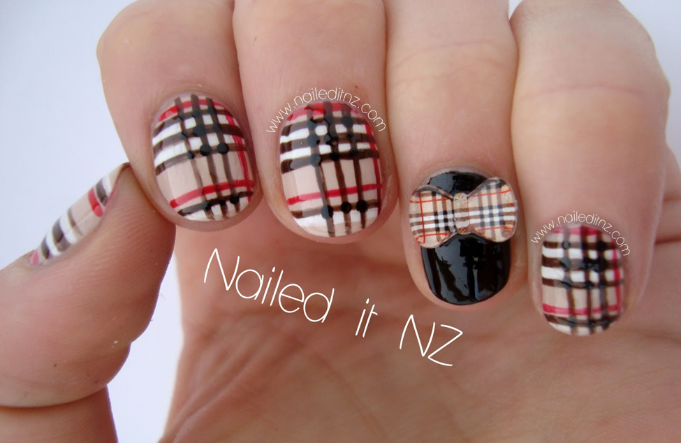 A picture of uniform nail art